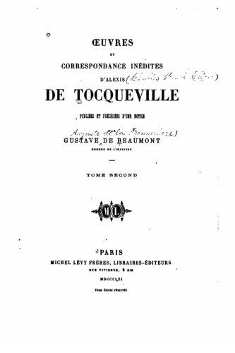 Read Online Oeuvres et correspondance inédites d'Alexis de Tocqueville (French Edition) pdf