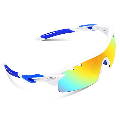 OBERLY S01 Polarized Sports Sunglasses with 4 Interchangeable Lenses for Men Women Cycling Baseball Golf Fishing Driving - Should Get I Polycarbonate Lenses