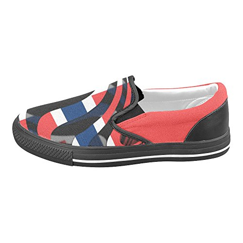 Interestprint Klassiske Flagget Til Norge Menns Slip-on Canvas Sko