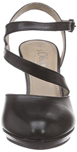 s.Oliver 29601 - Zapatos de Talón Abierto Mujer Negro - negro
