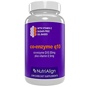 Nutri-Align Co-Enzyme Q10: Low-Carb Diet Supplement | Sugar-free, zero-carb. 90 capsules.