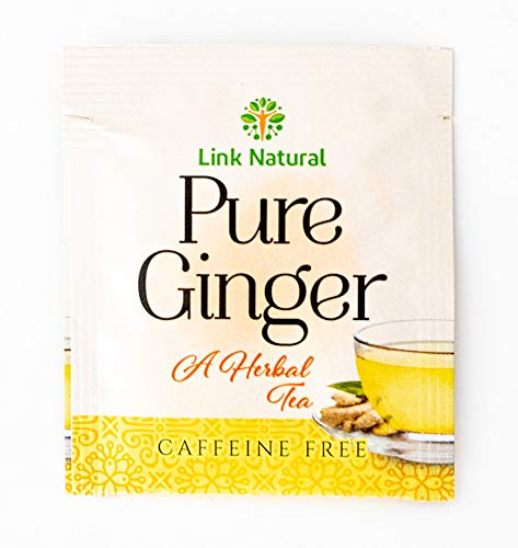 Ayurvedic Herbal Ceylon Tea Pure Sri Lankan Ginger Root Tea 100 Teabags Total (Link Pure Ginger, 50 Sachets x 2 -
