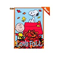 "Jetmax Peanuts Love Fall Garden Flag 12"" x 18"" 24796"