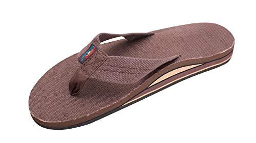 Rainbow Sandals Men's Double Layer Arch Hemp, Brown, Men's XX Large / 12-13.5 D(M) US