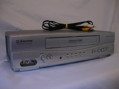 Emerson EWV603 4 Head HIFI Stereo ON-SCREEN MENU Video Player / Recorder (VCR) with 19 Micron - Vcr Player Emerson