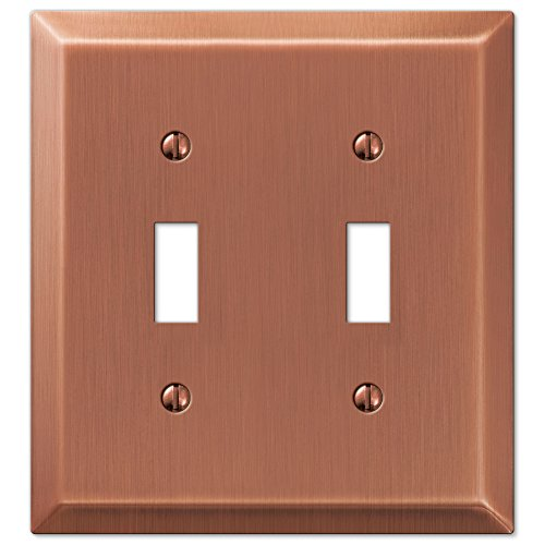 (Amerelle Century Double Toggle Steel Wallplate in Antique Copper)