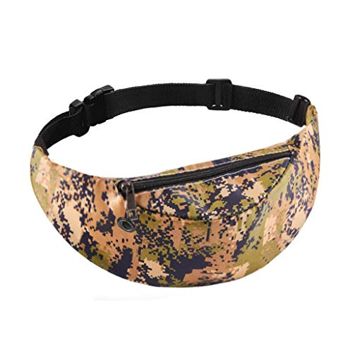 Pengy Unisex Camouflage Print Fanny Pack Rave Festival Waist Bag Chest Pack Cross-body Bag Purse Phone Pouch ()