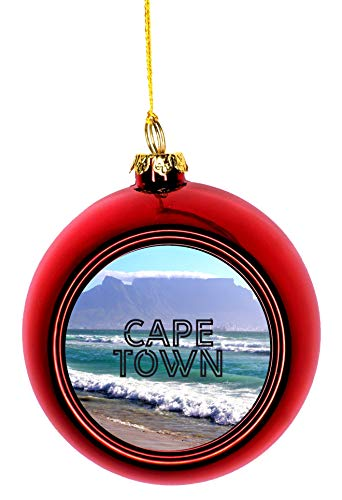 Jacks Outlet Christmas Ornaments Travel Cape Town South Africa Table Mountain Beach Ball Ornaments Red