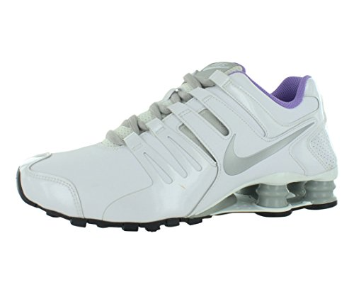 on sale f0686 cf7ce ... sweden wmns nike shox current premium white metallic silver atomic  violet 639657 100 womens running shoes