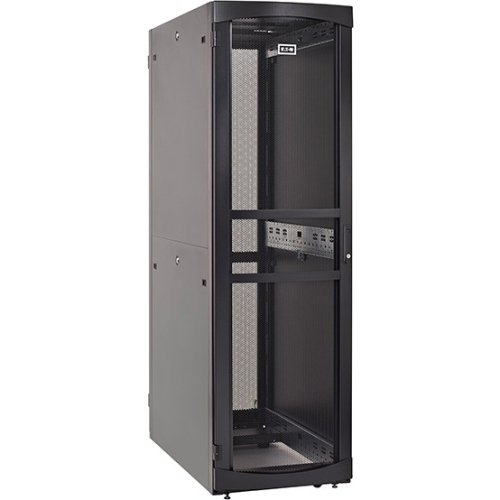 (Eaton RS Rack Cabinet - 45U Wide for Server, LAN Switch, Patch Panel, PDU, UPS - Black - Metal - 2000 lb x Dynamic/Rol)