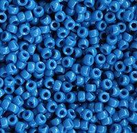 JOLLY STORE Crafts Opaque Blue Haze 7x4mm Mini Pony Beads, -