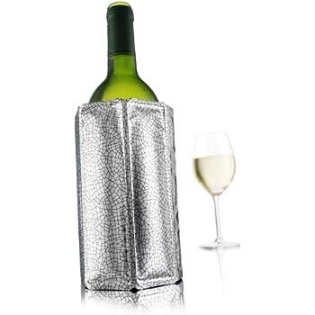 Vacu Vin 38803606 Rapid Ice Active Cooler Wine Bottle Chilling Sleeve Standard Silver
