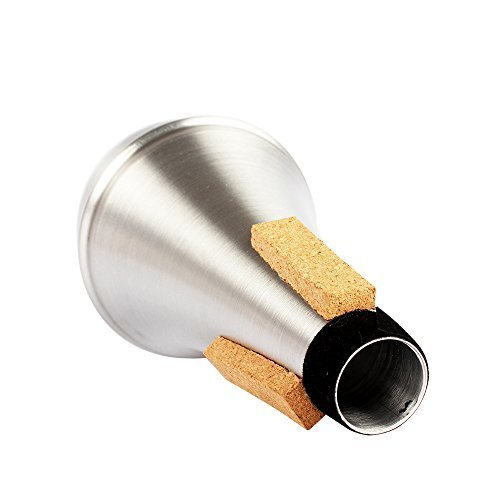 Andoer Trumpet Straight Mute Sourdine Aluminum Alloy Silver Color