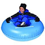 Slippery Racer Airraid Inflatable Snow Tube Sled, Blue