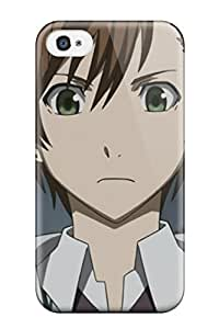 Iphone 4/4s Hard Back With Bumper Silicone Gel Tpu Case Cover Zetsuen No Tempest
