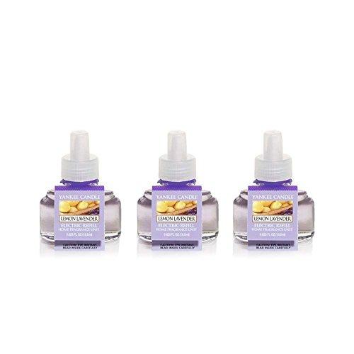 Yankee Candle Scent-Plug Air Freshener Refill (3 Pack) Fresh Scent (Lemon Lavender) ()