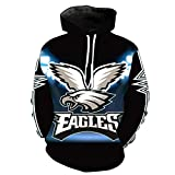 Philadelphia Eagle 3D Printing Hoodies Pullover Men's Long Sleeve Tracksuit Plus Size