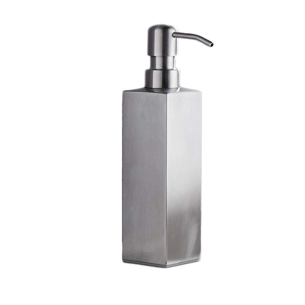 Acero Inoxidable Dispensador de jabón Hotel American Shampoo Shower Gel Botella Baño Jabón Dispensador Desinfectante de Manos (Color : Black, ...
