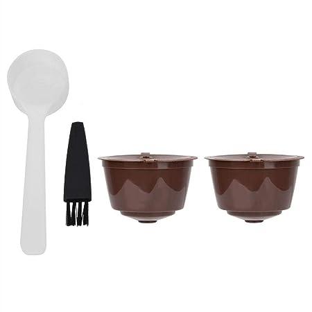 Atyhao - 2 cápsulas de café Reutilizables para el hogar, cápsulas ...