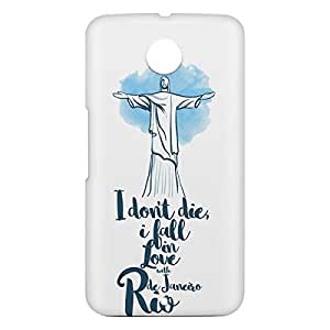 Loud Universe Motorola Nexus 6 3D Wrap Around Rio Print Cover - White