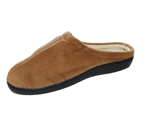 Zapatillas unisex suela GEL color camel Talla L: 29 cm (44-45)