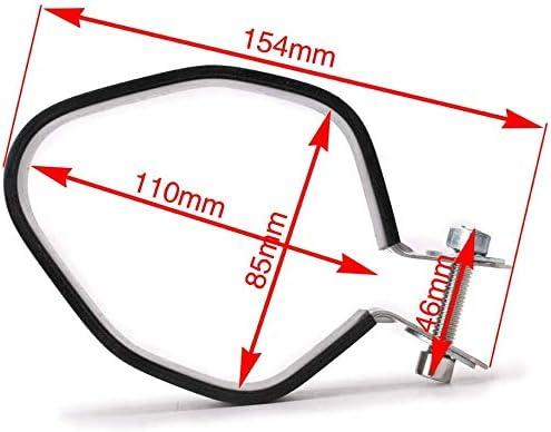 Universal Motorcycle Muffler Clamps Exhaust Muffler Silencer Pipe Hanger Mount Bracket for 85-100mm 1 Set