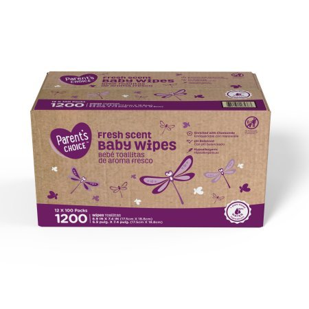 Amazon.com: Parents Choice Baby Wipes, 12 packs of 100 (1200 count) (Fresh Scent): Baby
