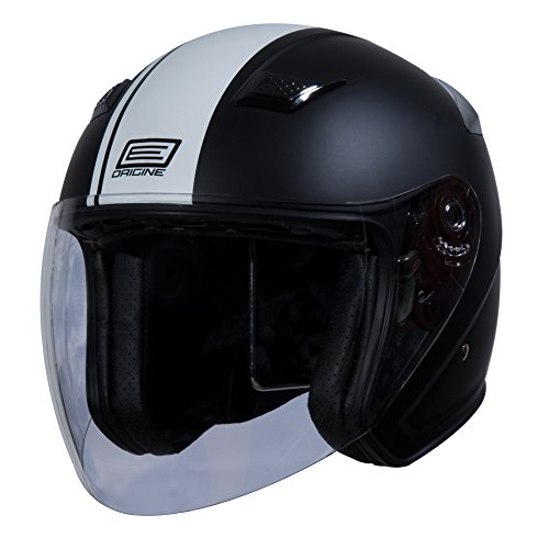 Origine O526 Aperto 3/4 Helmet (Flat Black, Medium) (White Gara) (Vespa Helmet White)