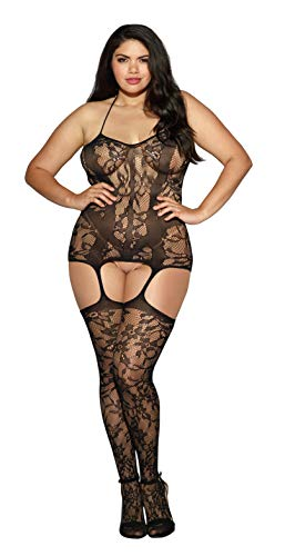Dreamgirl Women's Plus-Size Trinidad Halter Garter Dress With
