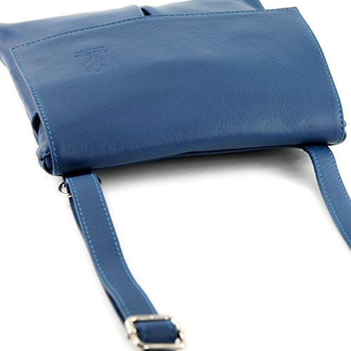 leather bag T63 bag bag Italian real satchel women's Blue shoulder messenger qFxxET8