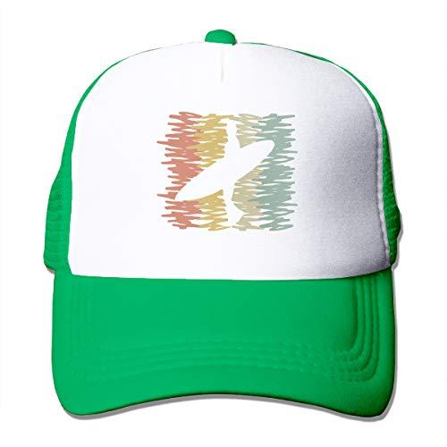 Unisex Trucker Hat Beach Surfer Surfing Silhouette Men Women Adjustable Mesh Cap New Back Cap Green
