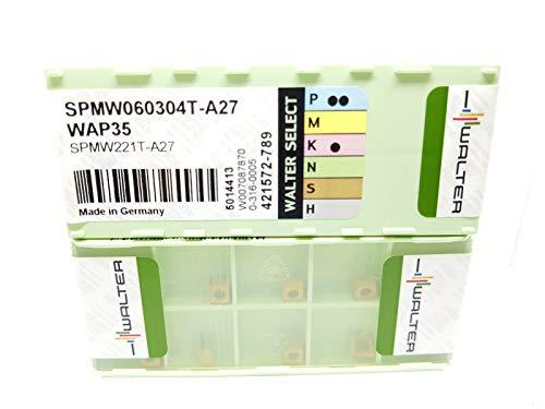 Walter SPMW 060304T-A27 Hartmetall-Einsätze, Klasse WAP35, DB1, 10 Stück