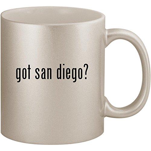 got san diego? - 11oz Ceramic Coffee Mug Cup, Silver