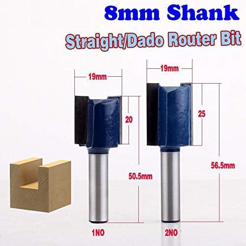 NO LOGO ZZB-ZT, 1pc 8mm Schaft Qualitäts-Straight/Dado Router Bit - 3/4