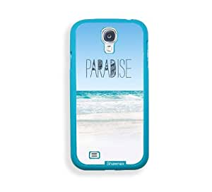 Shawnex Paradise Beach Hipster Quote ThinShell Protective Aqua Plastic Samsung Galaxy S4 Case - Galaxy i9500 Case Snap On Case