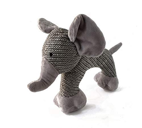Lily Anne Pet Boutique Woven Cute Dog Toys – Elephant Dog Toy, Monkey Dog Toy, or Sheep Dog Toy – 1 or 2 Pack Squeaker…