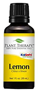 Plant Therapy Lemon Steam Distilled Essential Oil. 100% Pure, Undiluted, Therapeutic Grade. 30 ml (1 oz).