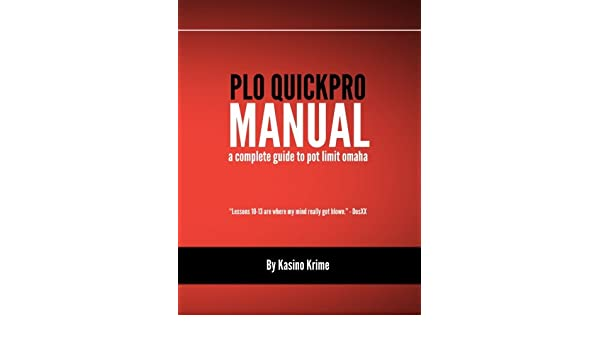 plo quickpro a complete strategy guide to pot limit omaha volume rh amazon com QuickPro Herbicide plo quickpro manual used