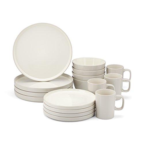 Food & Wine For Gorham Modern Farmhouse 16-Piece Dinnerware Set, Barley (Gorham Dinnerware)