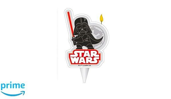 Dekora-346209 Vela de Cumpleaños en 2D de Darth Vader de ...