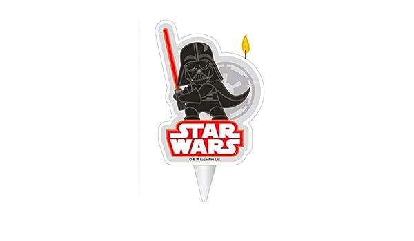 COOLMP - Juego de 6 Velas de cumpleaños de Dark Vader Star ...