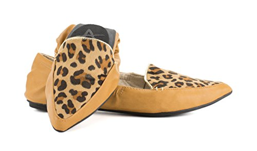 Travel Ballet Piper Leopard Foldable Avanti Shoes Avanti Flats Piper YwRqBCC