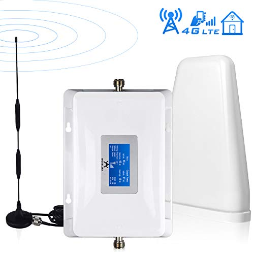 Verizon Cell Phone Signal Booster 4G LTE Cell Signal Booster Verizon Cell Phone Signal Amplifier Mobile Phone Signal Booster Repeater Band13 FDD with Omni+LPDA Antenna Kits for Home Office Use