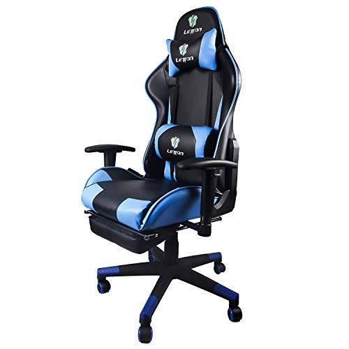 Letton Gaming Chair Racing Game Style Chair with High Back PU Leather with Headrest and Lumbar Support Executive Office Chair and PC Computer Swivel Chair