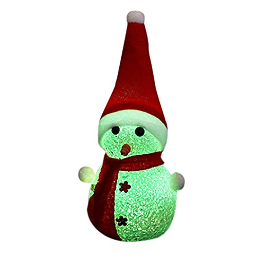 Kanzd Christmas Changing Color LED Light Multi-Color Magic Novelty Star Snowman Lamp (A) (Magic Lamp Costume)