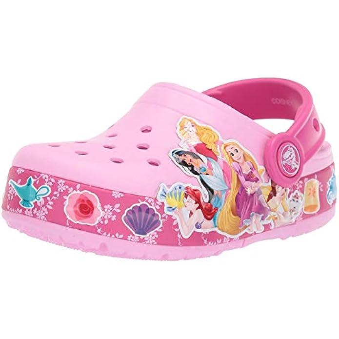 Crocs Kids' Boys and Girls Disney Princess Band Light Up Clog