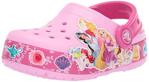 Crocs Kids' Fun Lab Princess Band Light-Up Clog, Carnation, 13 M US Little -