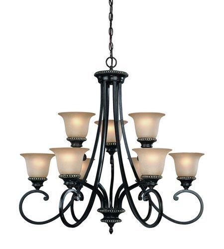 Dolan Designs 1752-148 Hastings 9 Light 2 Tier Chandelier, Phoenix -