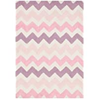 Loloi Rugs, Lola Shag Collection - Round Pink/Purple Area Rug, 3 x 3