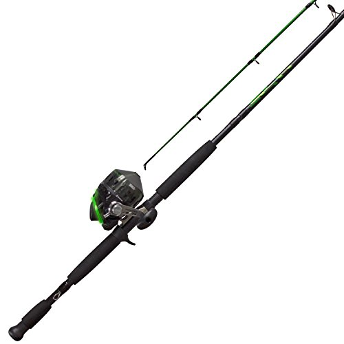 Zebco BA808H702MH, 20, NS3 Bite Alert Spincast Combo, 2.6: 1 Gear Ratio, 7' 2pc Rod, 17-50 Line Rating